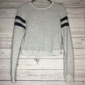 Abercrombie & Fitch Cropped Space Dye Crew Neck XS